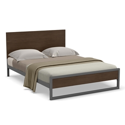 Amisco Lidgie Modern Bed in Metallo + Pinecone Finishes