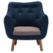 Liliana Modern Two Tone Lounge Chair