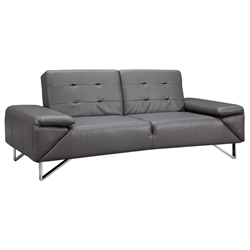 Lippman Gray Contemporary Sleeper Sofa