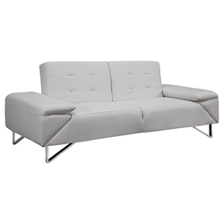 Lippman White Contemporary Sleeper Sofa