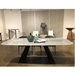 Euro Style Lizarte Dining Table in Gray + Black