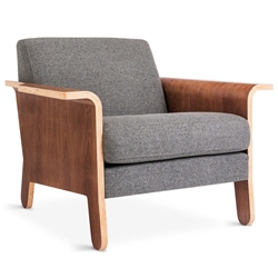 Lodge Contemporary Lounge Chair in Varsity Charcoal