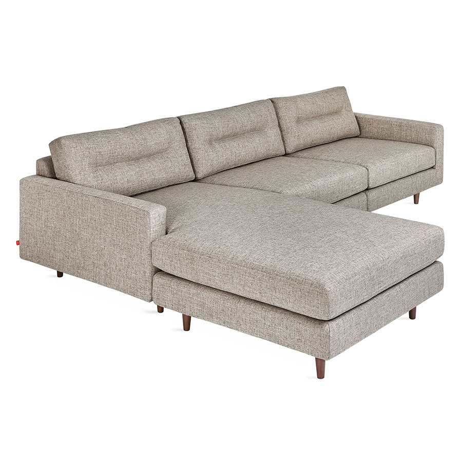 Gus* Modern Logan Bi-Sectional Sofa In Caledon Antler W/ Walnut Legs