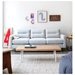 Logan Contemporary Sofa in Oxford Quartz - Lifestyle Front