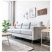 Logan Contemporary Sofa in Oxford Quartz - Lifestyle
