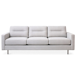 Logan Contemporary Sofa in Oxford Quartz