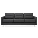 Logan Contemporary Sofa in Oxford Zinc by Gus* Modern