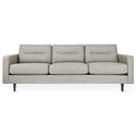 Gus* Modern Logan Sofa in Caledon Antler Fabric Upholstery + Walnut Wood Legs