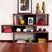 London Walnut + Black Contemporary Bookcase Room