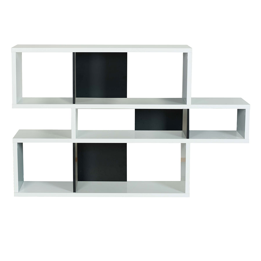 London White + Black Contemporary Bookcase by TemaHome