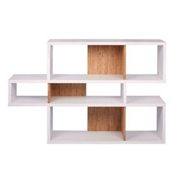 London White + Cork Contemporary Bookcase by TemaHome
