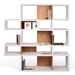 London White + Cork Modern Medium Height Bookcase