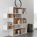 London White + Cork Modern Double Height Bookcase Room Shot