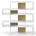 London White + Oak Modern Double Height Bookcase by TemaHome