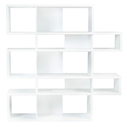 London White Modern Double Height Bookcase