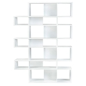 London White Modern Triple Height Bookcase by TemaHome