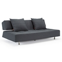 Long Horn Modern Sleeper Sofa in Dark Gray by Innovation