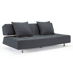 Long Horn Modern Sleeper Sofa in Dark Gray
