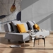 Long Horn Modern Excess Sleeper Sofa in Granite Fabric by Innovation
