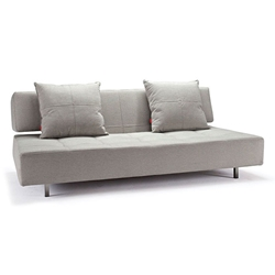 Long Horn Modern Sleeper Sofa in Mixed Dance Natural by Innovation