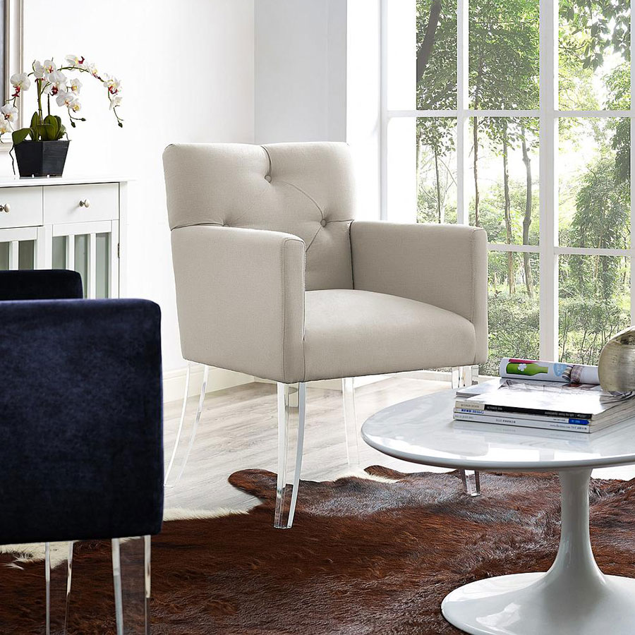 Linen Lorraine Home Fashions: Lorraine Contemporary Beige Arm Chair