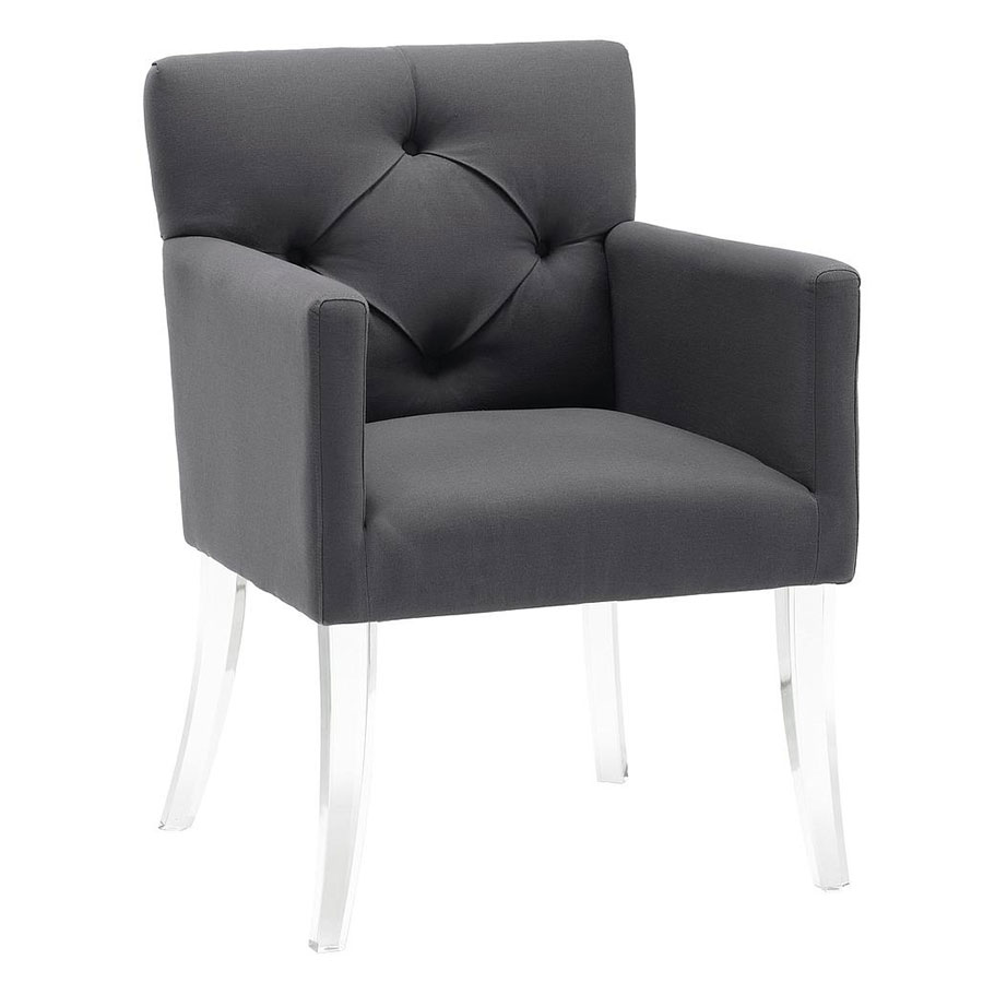 Lorraine contemporary gray arm chair collectic home