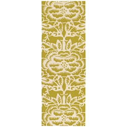 Lovebirds Runner Rug in Green