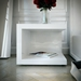 Modloft Modern Nightstand in Glossy White Lacquer - Room Setting