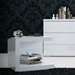 Modloft Modern Nightstand in Glossy White Lacquer - Lifestyle