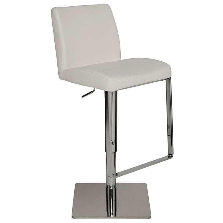 Matteo Modern White Adjustable Leather Stool