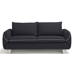 Maestro Modern Sleeper Sofa in Dark Grey by Pezzan