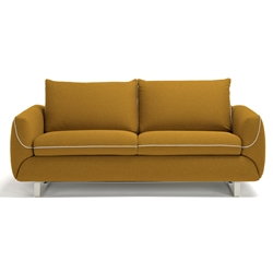 Maestro Modern Sleeper Sofa in Orange by Pezzan