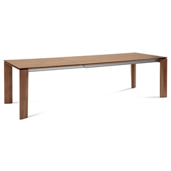 Major Walnut Modern Extension Dining Table by Domitalia