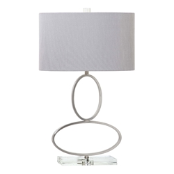 Manfried Brushed Nickel Contemporary Table Lamp