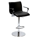 Marcellus Black Adjustable Contemporary Stool