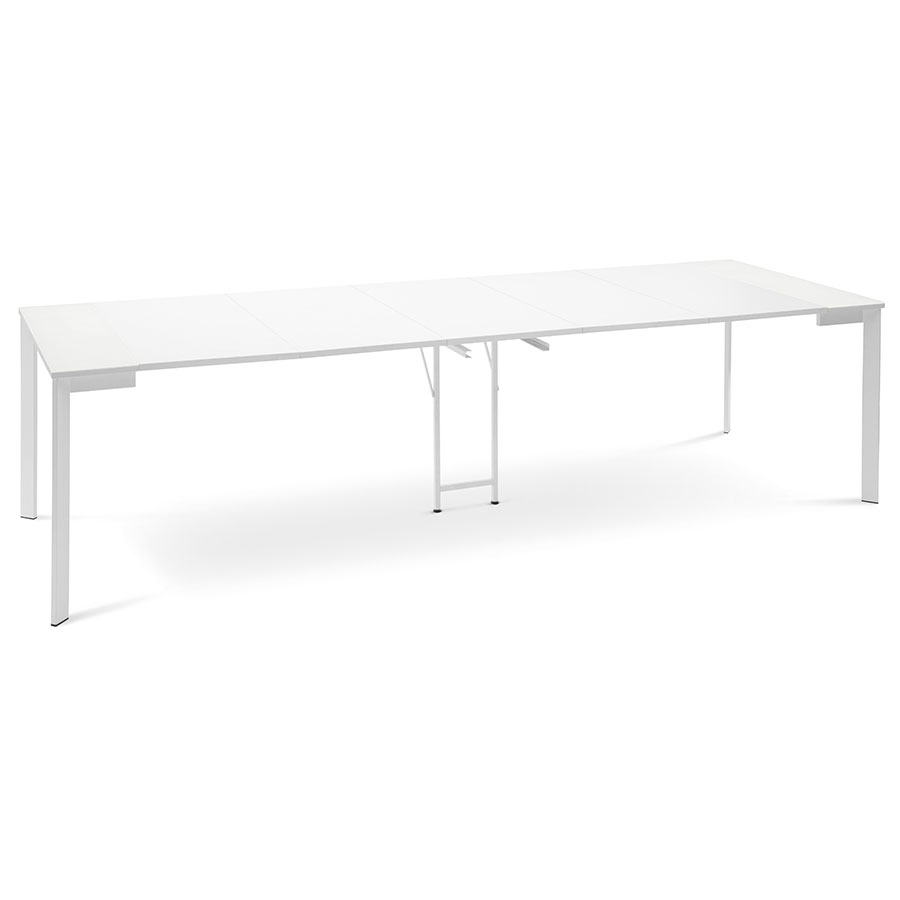 Marcia White Modern Extension Dining Console Table