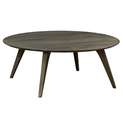 Martin Modern Round Strata Nantucket Cocktail Table by Saloom