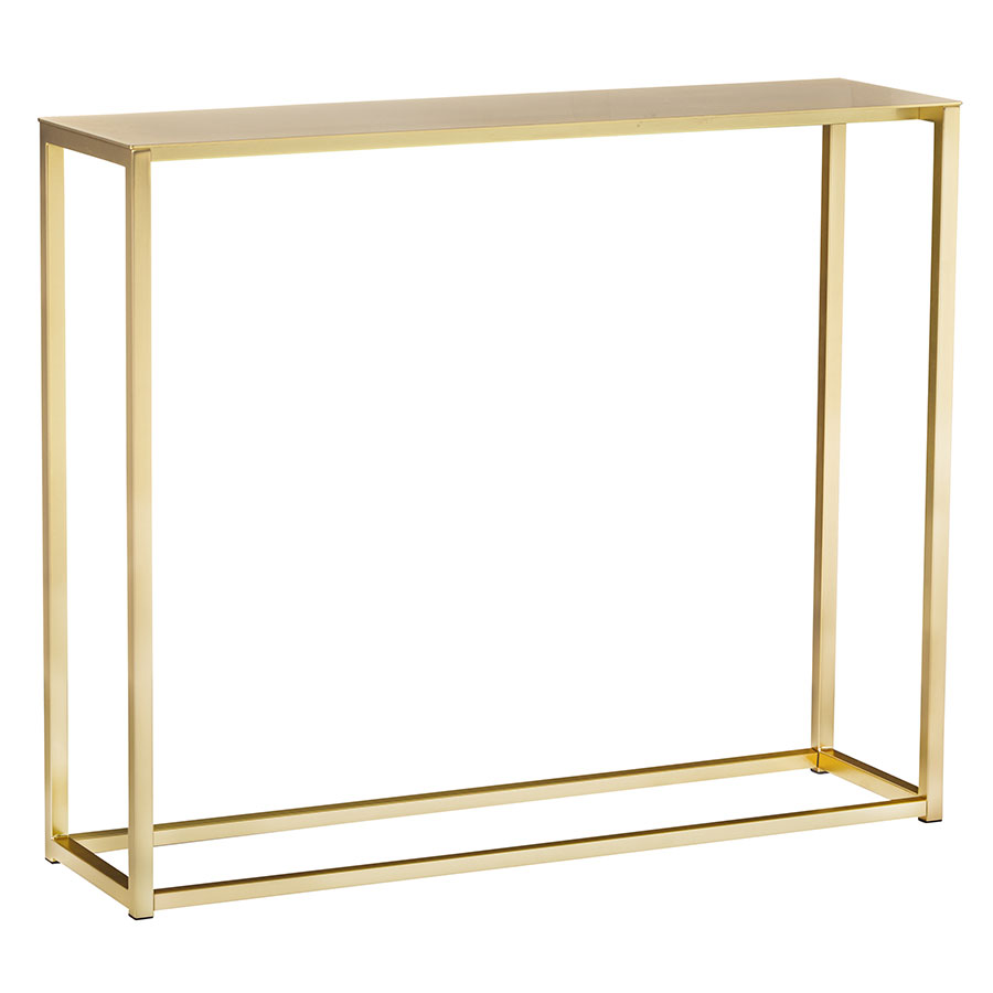 "Marty Brushed Gold Steel 36"" Modern Console Table"