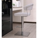 Maureen Contemporary White Adjustable Stool