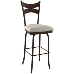 Meadow Contemporary Bar Stool Shown in Oxidado by Amisco