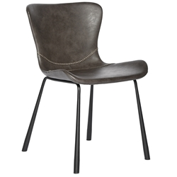 Mercer Modern Side Chair in Dark Gray