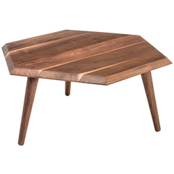 Metric Contemporary Coffee Table by Gus Modern in Walnut