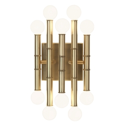 Meurice Contemporary Wall Sconce in Antique Brass