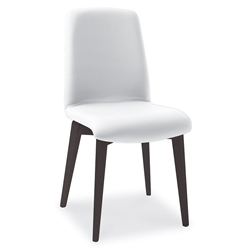 Mia Anthracite + White Modern Dining Side Chair by Pezzan