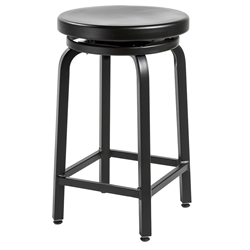 Miller-C Brushed Black Modern Counter Stool by Euro Style