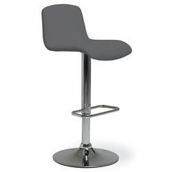 Milo Modern Adjustable Bar Stool in Anthracite by Pezzan