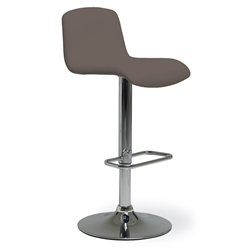 Milo Modern Adjustable Bar Stool in Taupe by Pezzan