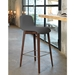 Pezzan Milo Modern Counter Stool in Walnut + Anthracite