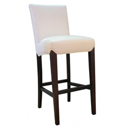 Milt Contemporary Barstool in white