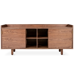 Mimico Contemporary Cabinet in Walnut Gus Modern